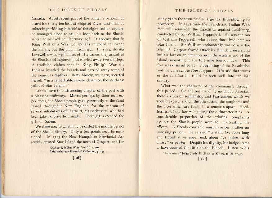 The Story of the Isles of Shoals, Pages 16-17