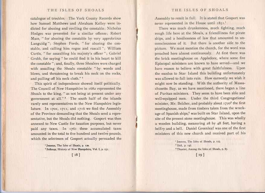 The Story of the Isles of Shoals, Pages 18-19