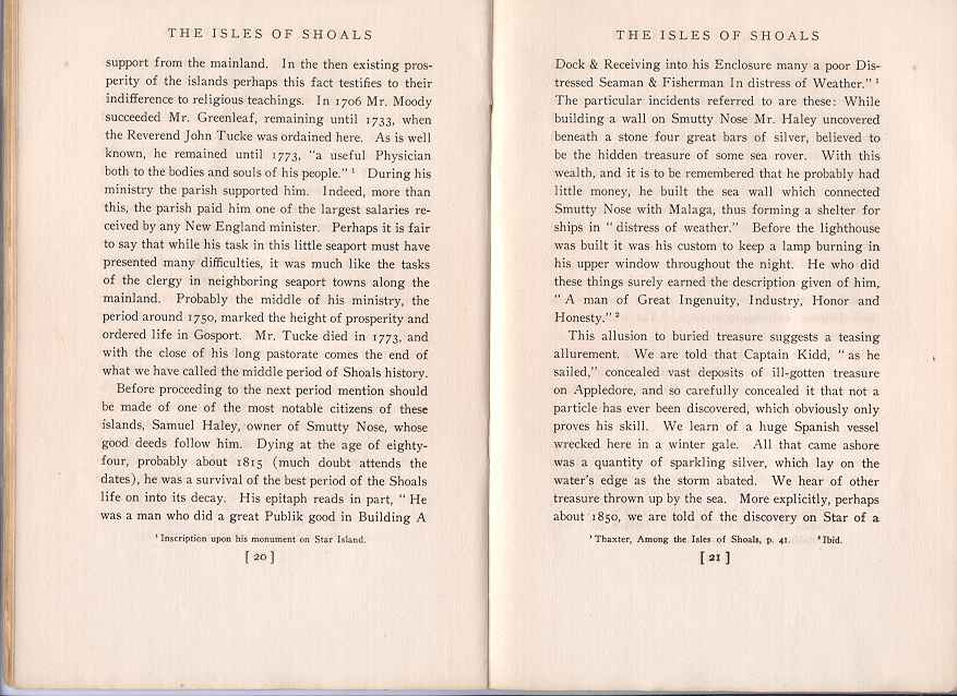 The Story of the Isles of Shoals, Pages 20-21