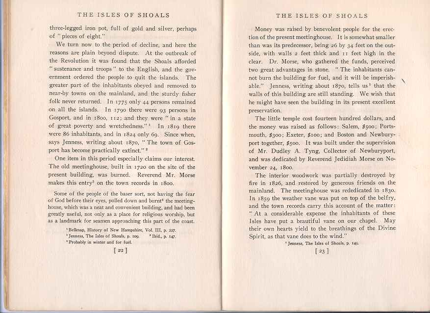 The Story of the Isles of Shoals, Pages 22-23