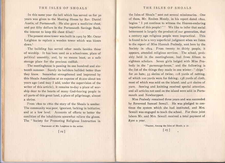 The Story of the Isles of Shoals, Pages 24-25
