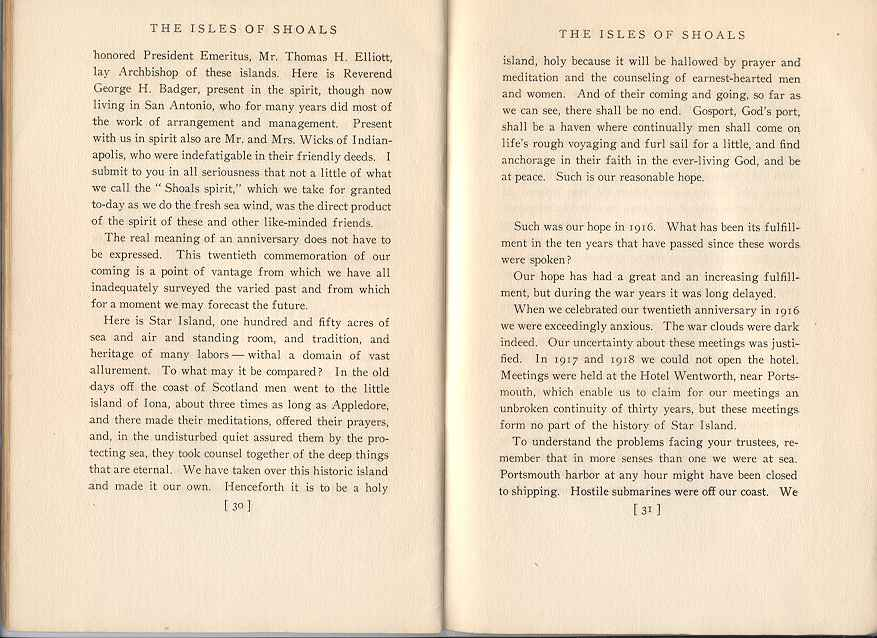 The Story of the Isles of Shoals, Pages 30-31