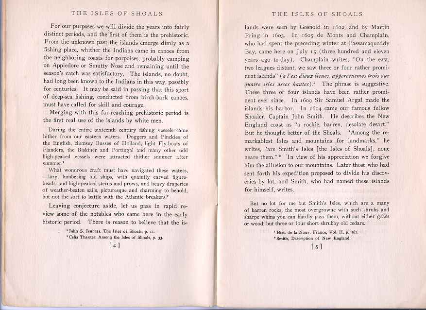 The Story of the Isles of Shoals, Pages 4-5