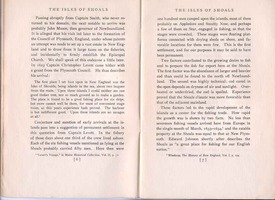 The Story of the Isles of Shoals, Pages 6-7