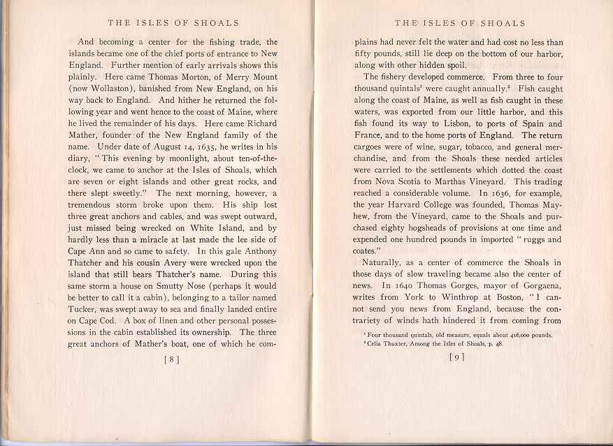 The Story of the Isles of Shoals, Pages 8-9