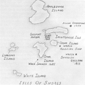 Illustrative Map, Isles of Shoals