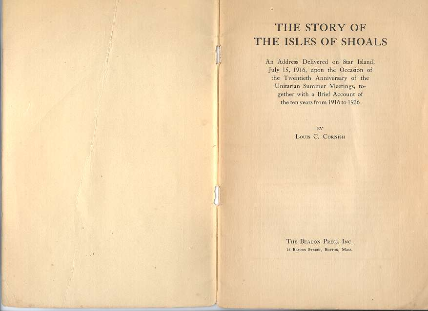 The Story of the Isles of Shoals, Title Page