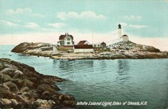 White Island Lighthouse Postcard