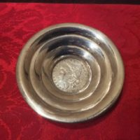 Sterling Dish w/ United States Coin - 1901 Morgan Silver Dollar