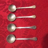 RARE Coin Silver Individual Salt Spoons w/ United States Coin - 1897 - 1906 - 1911 - 1913 - Barber Dimes
