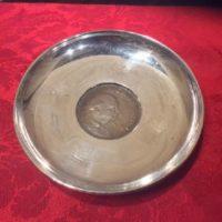Sterling Dish w/ 1965 Winston Churchill Great Britain Crown - Commemorative Coin