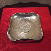 Sterling Hand Hammered Dish - Bowl w/ 1889 Peruvian 1 Sol Coin