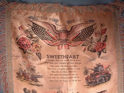 Silk Souvenir Army Pillow Sham - Fort Knox, KY - Vintage Sweetheart 1940s - Great piece of US Militaria