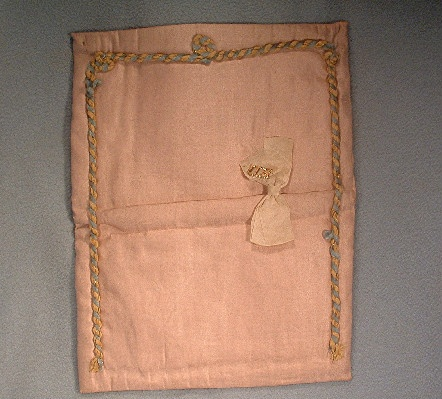 World War I Doughboy - Sweetheart American Flag Silk Handkerchief Holder - Great piece of US Militaria