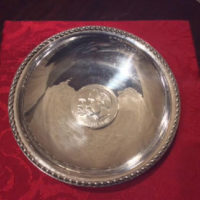 Sterling Dish w/ 1000 Fine Silver Daimler Benz / Mercedes-Benz 1886 Commemorative Coin