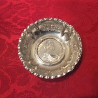Silver Pin Dish w/ Maria Theresia Taler Dated 1780