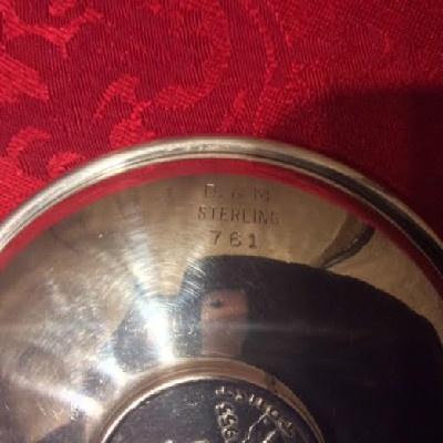 Sterling Dish w/ United States Coin - Liberty / Benjamin Franklin Half Dollar