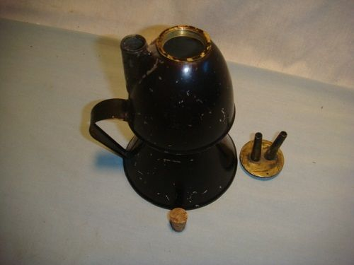 Large Petticoat Double Wick Whale Oil Lamp - c. 1860 W/ Orig Asphalta Finish