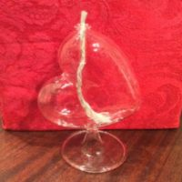"Heart On Side Glass Oil Lamp / Vase - The Perfect Way To Say ""I Love You"""