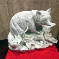 White Bisque Porcelain - Raccoon Sculpture - Figurine - Made in Germany