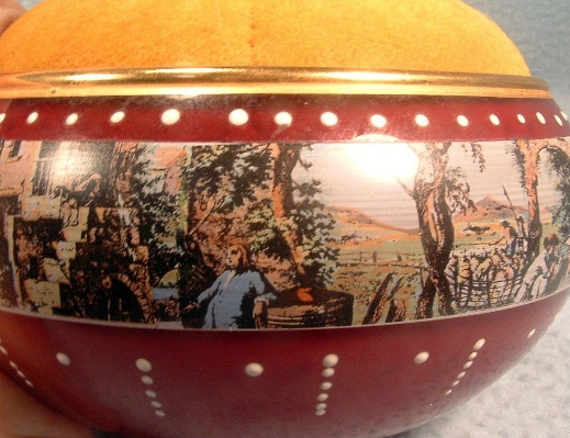 Ruby Glass - K B Original Creation - Decorated Pin Cushion - Vintage Murano