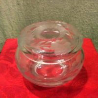 Cut Glass Hair Receiver - Potpourri Jar - Wheel Cut - American Brilliant Cut Glass