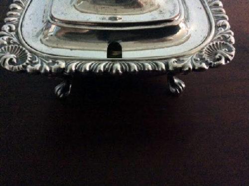 Sheffield Silver - Mustard Pot w/ Liner and Spoon - English Silversmith William Adams