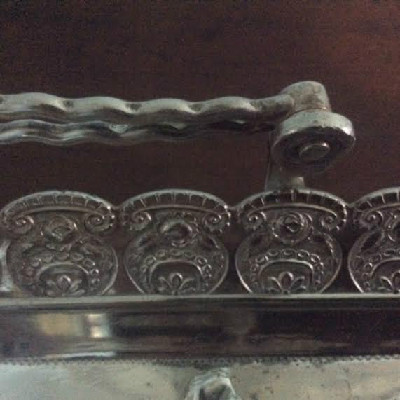 Embossed Handled Fruit Basket - Victorian Quadruple Silver Plate - Wilcox Silver Plate Company