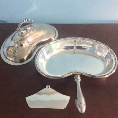 Sheffield Silver Covered Divided Serving Dish w/ Handle - Lee & Wigfull - Downton Abbey Elegance