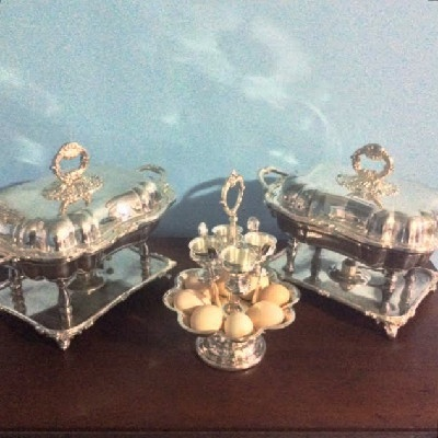 Sheffield Silver - English Breakfast Egg Carousel - Downton Abbey Elegance