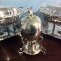 Sheffield Silver - Egg Coddler w/ Eagle Finial - Breakfast at Downton Abbey