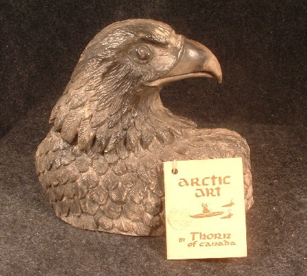 Eagle Sculpture - Arctic Art by Thorn of Canada - Vintage