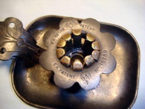 RARE - Tin Candle Holder w/ Unusual Adjustable Socket - Original Finish - c. 1870