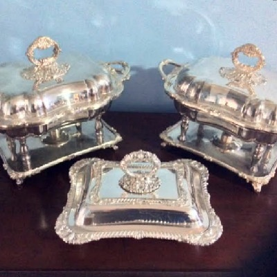 Silver Covered Serving Dish - Folgate Silver Company - 1875-1900 - Hand Chased & Hand Made - Downton Abbey Elegance
