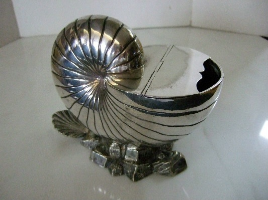 Silver Nautilus Shell Spoon Warmer - Downton Abbey Elegance At Its Best!