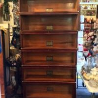 Deluxe - Globe-Wernicke - Mahogany Stacking Lawyer's / Barrister Bookcase - Made In The U.S.A.