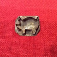 Pig Cookie Cutter Tin Pin - UNIQUE Handmade By Skilled Tinsmith - Tinware - Kitchenware - Jewelry