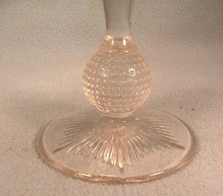 EAPG Diamond Point Compote With Ball Stem - ca. 1880 - EAPG Diamond Point Pattern Compote by Bryce Bros.