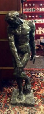 "Auguste Rodin - ""Adam"" Bronze Sculpture - Half Size"
