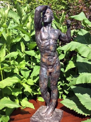 "Auguste Rodin – ""The Age of Bronze"" Bronze Sculpture – Half Size"