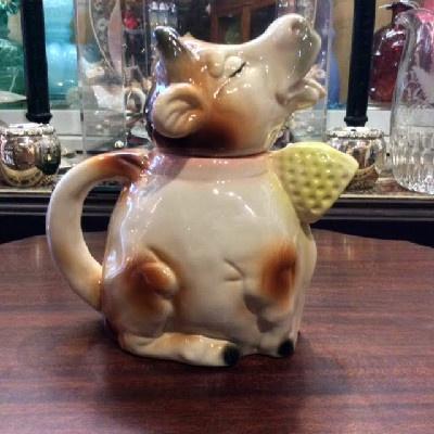RARE - Erphila - Majolica - Cow Teapot - Vintage Germany - 1920s