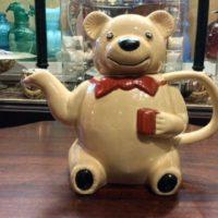 RARE - Erphila - Majolica - Teddy Bear Teapot - Vintage Germany - 1920s