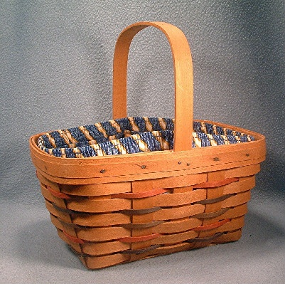 Longaberger Basket - 1995 - Divided Utensils Basket