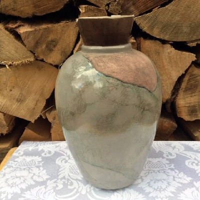 Artisan Pottery VASE - With VERY Subtle Nude Male Decoration - Erotic Male Art