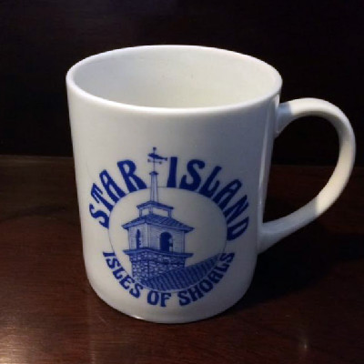 Star Island Mug - Gosport Chapel Weathervane - Isles of Shoals - 1990s