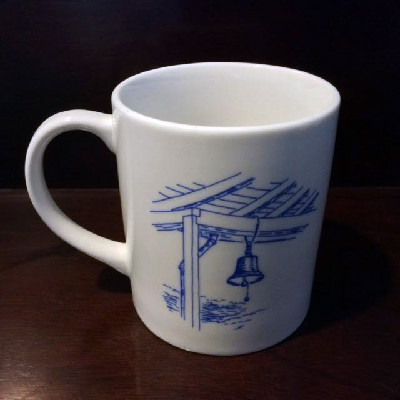Star Island Mug - Oceanic Porch Bell - Dinner Bell - Isles of Shoals - 1990s