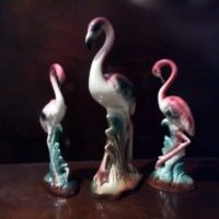 TRIO of Pink Flamingos