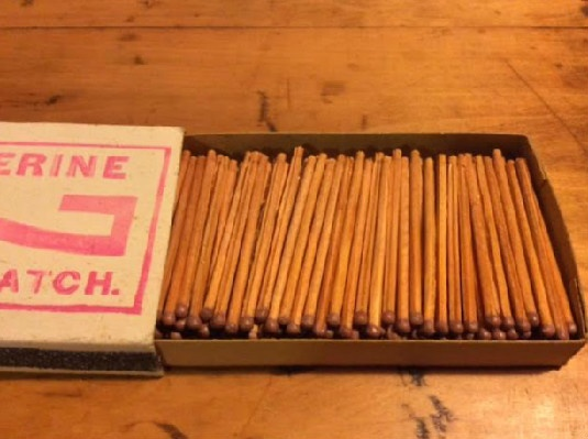 Vintage Wolverine Parlor Matches - Unused Box of Vintage Matches - Ideal for Early Lighting Collector