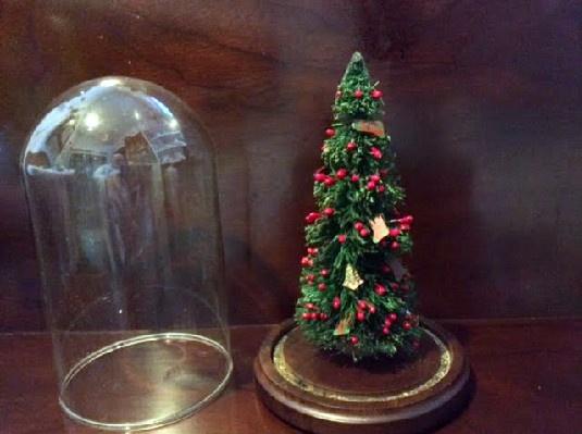 Bottle Brush Christmas Tree W/ Berries & Mini Ornaments In