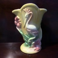 Hull Art Pottery - Sun-Glo Flamingo Vase - #85 - Vintage - 1949